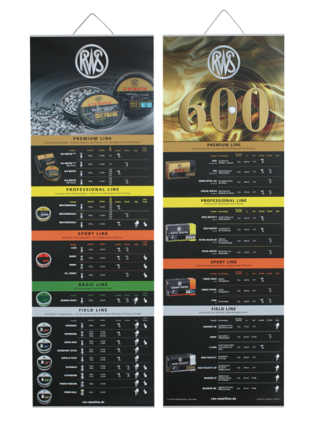 RWS Poster Doppelpack Luftgewehrkugeln / Randfeuerpatronen